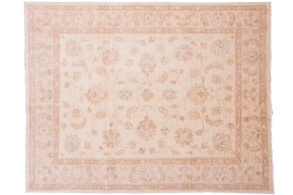 Afghan Chobi Ziegler 195x153 Handgeknüpft Teppich 150x200 Beige Orientalisch Kurzflor