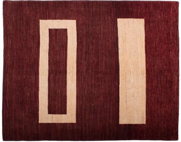 Afghan Modern Chobi Ziegler 194x153 Handgeknüpft Teppich 150x190 Rot Geometrisch Muster