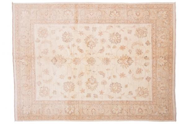 Afghan Chobi Ziegler 210x153 Handgeknüpft Teppich 150x210 Beige Orientalisch Kurzflor