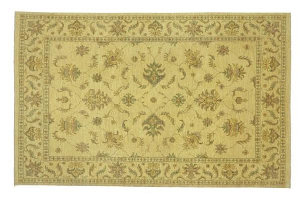 Afghan Chobi Ziegler 286x210 Handgeknüpft Teppich 210x290 Beige Floral Kurzflor Orient