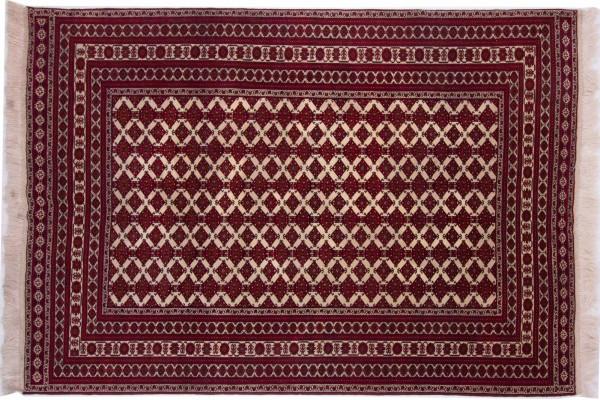 Afghan Orientteppich 275x194 Handgeknüpft Teppich 190x280 Rot Geometrisch Muster