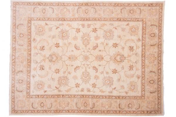Afghan Chobi Ziegler 202x152 Handgeknüpft Teppich 150x200 Beige Orientalisch Kurzflor