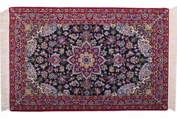 Perser Isfahan 106x69 Handgeknüpft Teppich 70x110 Mehrfarbig Orientalisch Kurzflor