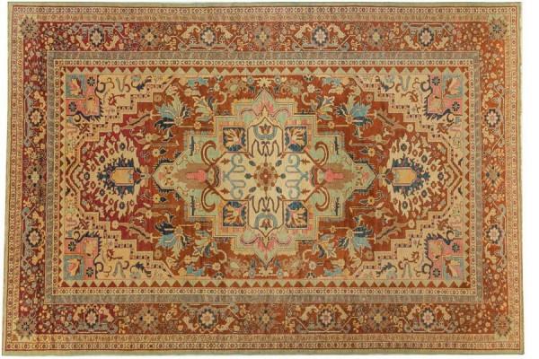 Afghan Chobi Ziegler 410x282 Handgeknüpft Teppich 280x410 Beige Geometrisch Muster