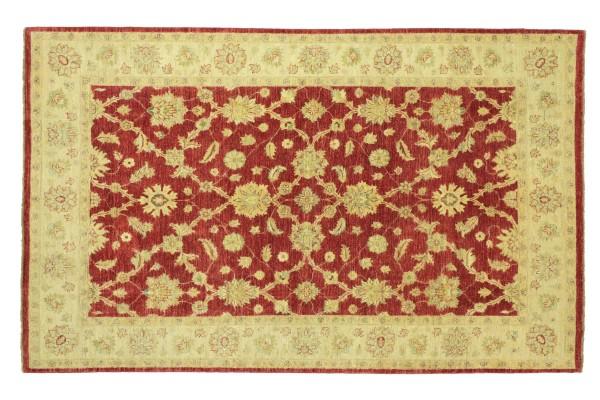 Afghan Chobi Ziegler 280x197 Handgeknüpft Teppich 200x280 Rot Floral Kurzflor Orient
