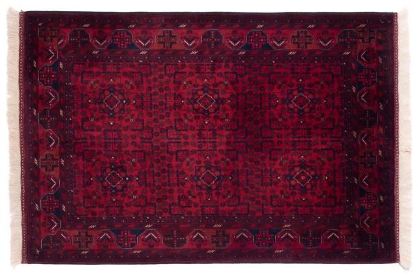 Afghan Belgique Khal Mohammadi 151x102 Handgeknüpft Teppich 100x150 Braun Geometrisch