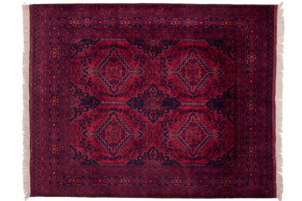 Afghan Belgique Khal Mohammadi 190x151 Handgeknüpft Teppich 150x190 Braun Geometrisch