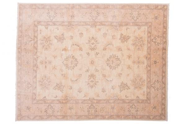 Afghan Chobi Ziegler 198x153 Handgeknüpft Teppich 150x200 Beige Orientalisch Kurzflor