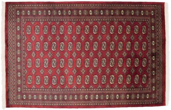 Pakistan Buchara 240x157 Handgeknüpft Teppich 160x240 Rot Orientalisch Kurzflor Orient