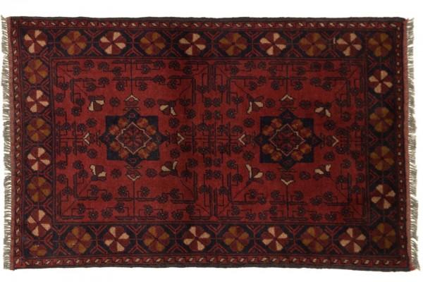 Afghan Khal Mohammadi 118x75 Handgeknüpft Teppich 80x120 Braun Geometrisch Muster