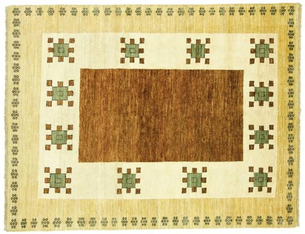 Afghan Modern Chobi Ziegler 206x159 Handgeknüpft Teppich 160x210 Mehrfarbig Geometrisch