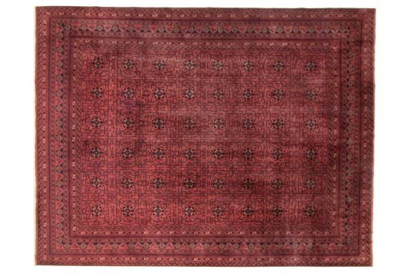 Afghan Belgique Khal Mohammadi 400x303 Handgeknüpft Teppich 300x400 Rot Geometrisch