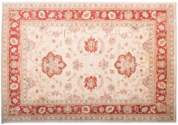 Afghan Chobi Ziegler Fein 200x149 Handgeknüpft Teppich 150x200 Beige Blumenmuster