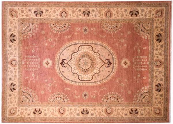Afghan Chobi Ziegler Fein 346x252 Handgeknüpft Teppich 250x350 Rot Blumenmuster