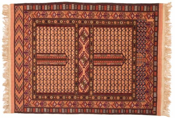 Afghan Mauri Kabul 150x116 Handgeknüpft Teppich 120x150 Mehrfarbig Geometrisch Muster