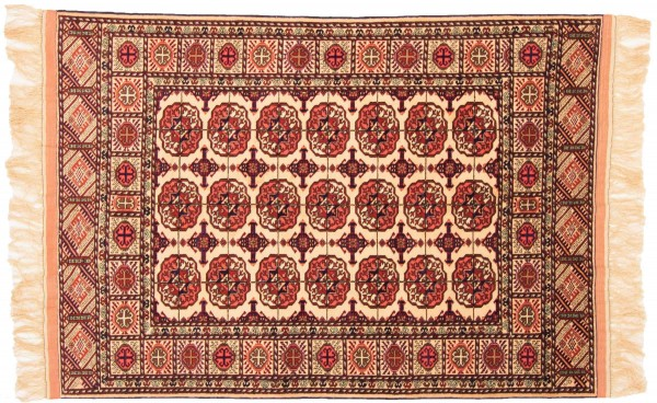 Afghan Mauri Kabul 158x112 Handgeknüpft Teppich 110x160 Rot Geometrisch Muster Kurzflor