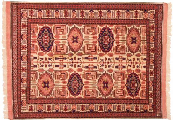 Afghan Mauri Kabul 155x123 Handgeknüpft Teppich 120x160 Gold Geometrisch Muster