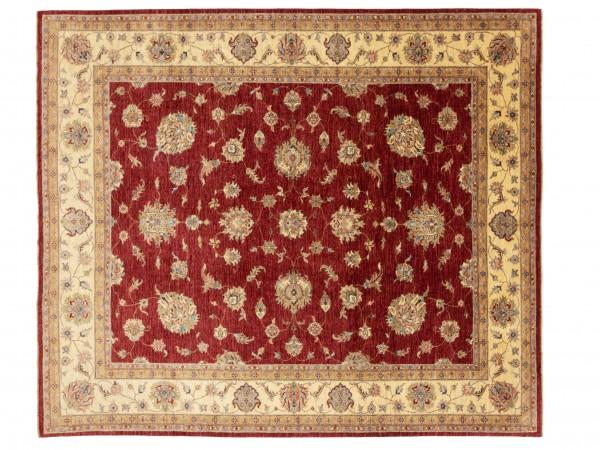 Afghan Chobi Ziegler 297x255 Handgeknüpft Teppich 260x300 Quadratisch Rot Blumenmuster