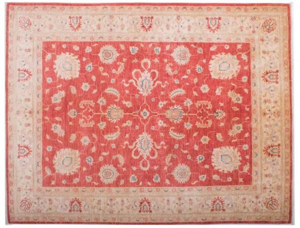 Afghan Chobi Ziegler Fein 194x151 Handgeknüpft Teppich 150x190 Rot Blumenmuster