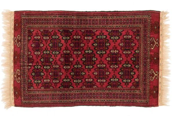 Kaukasus Buchara 122x85 Handgeknüpft Teppich 90x120 Rot Orientalisch Kurzflor Orient