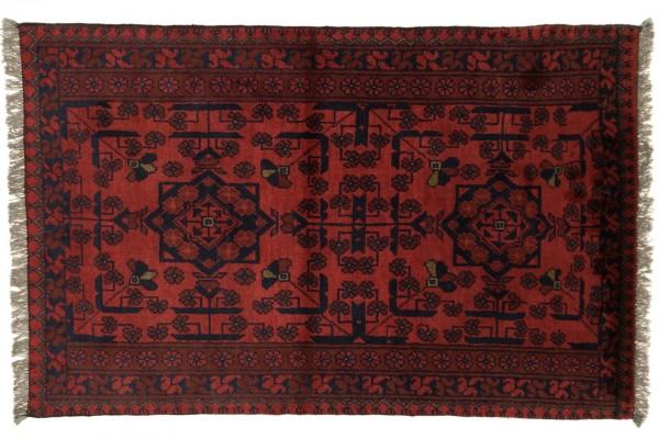 Afghan Khal Mohammadi 120x76 Handgeknüpft Teppich 80x120 Rot Geometrisch Muster
