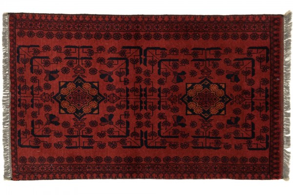 Afghan Khal Mohammadi 121x73 Handgeknüpft Teppich 70x120 Braun Geometrisch Muster