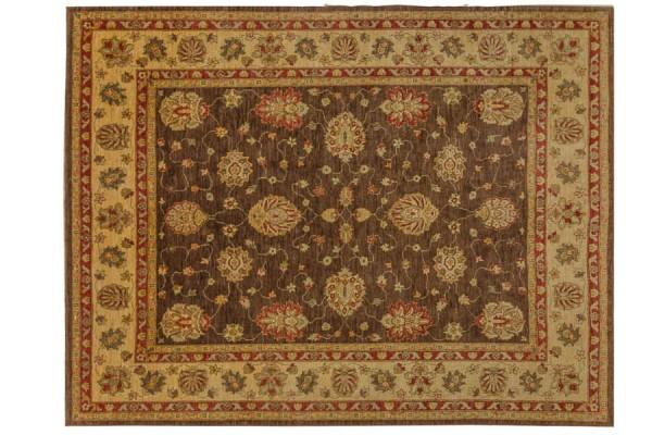 Afghan Chobi Ziegler 320x251 Handgeknüpft Teppich 250x320 Rot Blumenmuster Kurzflor