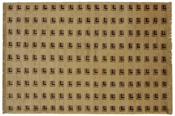 Afghan Modern Chobi Ziegler 167x119 Handgeknüpft Teppich 120x170 Beige Orientalisch