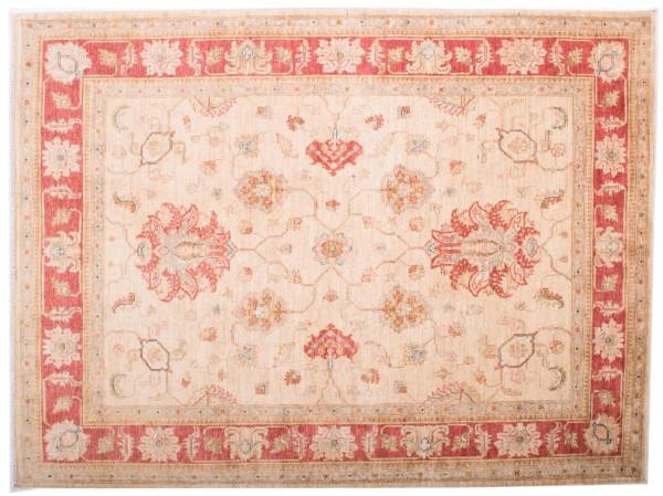 Afghan Chobi Ziegler Fein 198x150 Handgeknüpft Teppich 150x200 Beige Blumenmuster