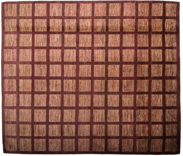 Afghan Modern Chobi Ziegler 281x246 Handgeknüpft Teppich 250x280 Quadratisch Rot