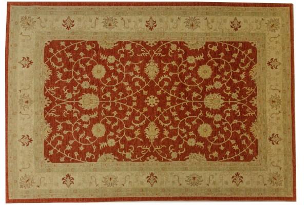 Afghan Chobi Ziegler 289x193 Handgeknüpft Teppich 190x290 Rot Orientalisch Kurzflor