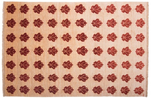 Afghan Modern Chobi Ziegler 251x172 Handgeknüpft Teppich 170x250 Grün Abstrakt Kurzflor