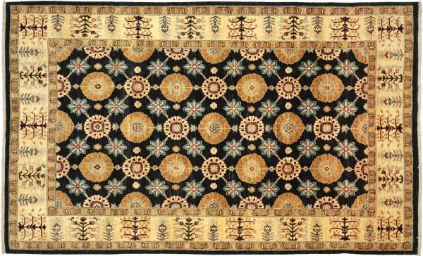 Afghan Chobi Ziegler 276x185 Handgeknüpft Teppich 190x280 Schwarz Geometrisch Muster