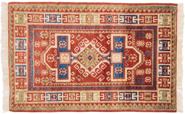 Afghan Chobi Ziegler 125x81 Handgeknüpft Teppich 80x130 Mehrfarbig Orientalisch