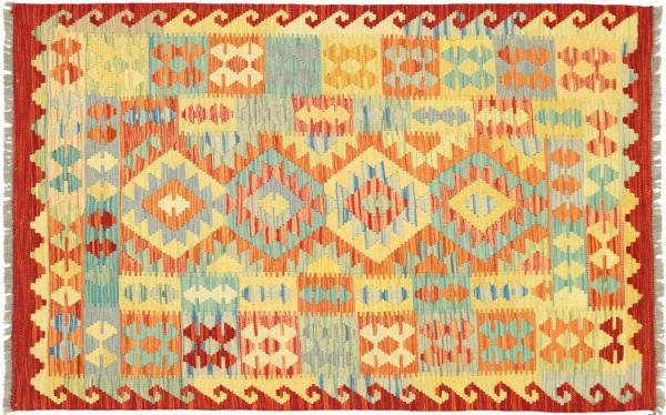 Afghan Maimana Kelim Bunt 148x104 Handgewebt Teppich 100x150 Bunt Geometrisch Orient