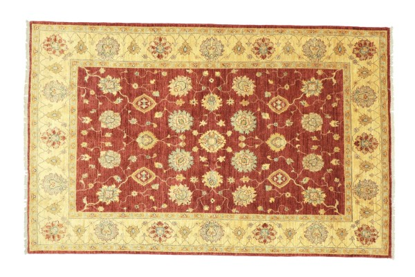 Afghan Chobi Ziegler 236x174 Handgeknüpft Teppich 170x240 Rot Floral Kurzflor Orient