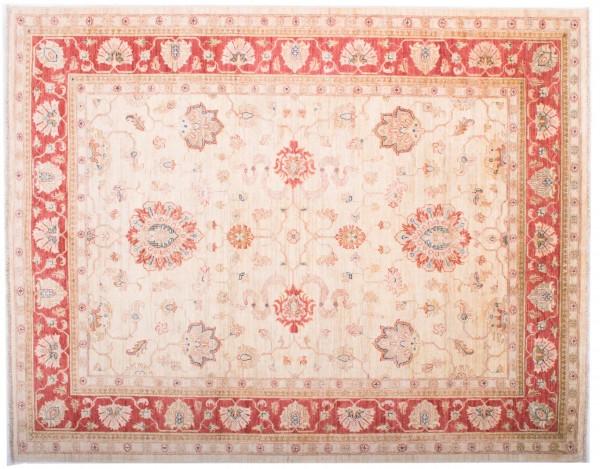 Afghan Chobi Ziegler Fein 197x155 Handgeknüpft Teppich 160x200 Beige Blumenmuster