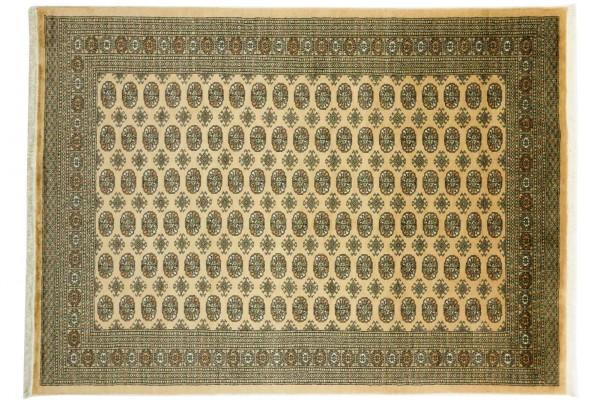 Pakistan Buchara 306x223 Handgeknüpft Teppich 220x310 Beige Orientalisch Kurzflor