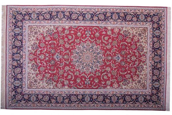 Perser Isfahan 316x208 Handgeknüpft Teppich 210x320 Mehrfarbig Orientalisch Kurzflor