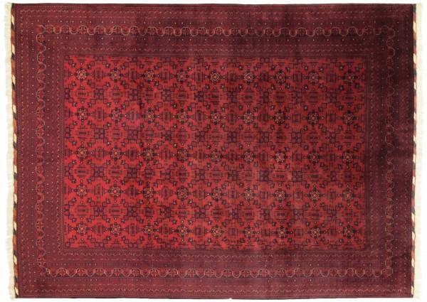 Afghan Belgique Khal Mohammadi 393x294 Handgeknüpft Teppich 290x390 Rot Geometrisch