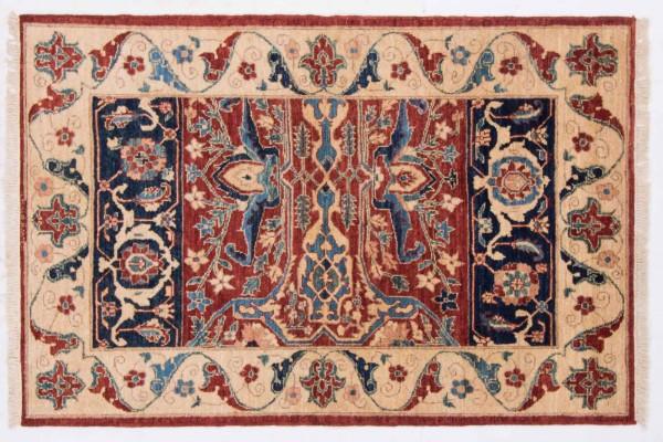 Afghan Chobi Ziegler 160x105 Handgeknüpft Teppich 110x160 Rot Orientalisch Kurzflor