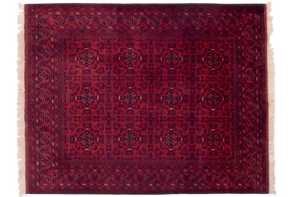 Afghan Belgique Khal Mohammadi 194x151 Handgeknüpft Teppich 150x190 Braun Geometrisch