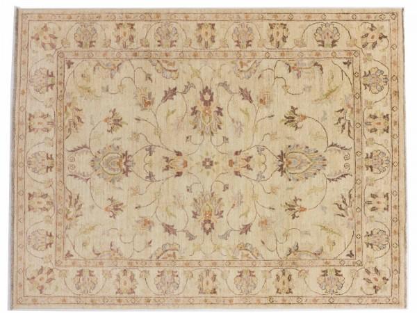 Afghan Chobi Ziegler 199x153 Handgeknüpft Teppich 150x200 Beige Orientalisch Kurzflor