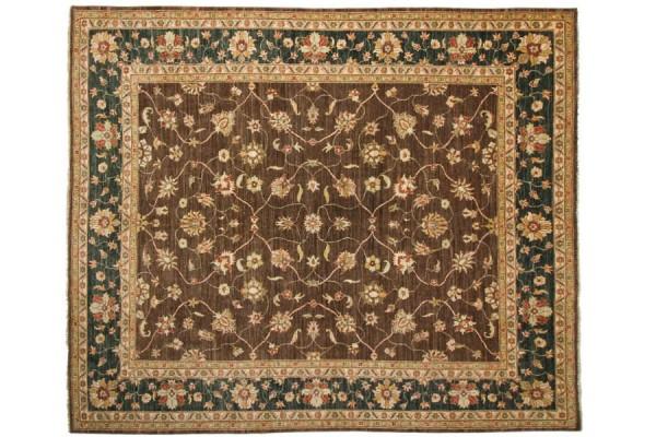 Afghan Chobi Ziegler 287x251 Handgeknüpft Teppich 250x290 Quadratisch Braun