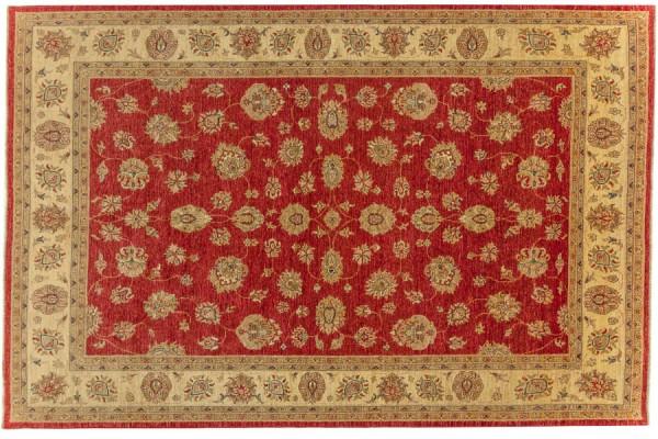 Afghan Chobi Ziegler 315x208 Handgeknüpft Teppich 210x320 Rot Orientalisch Kurzflor