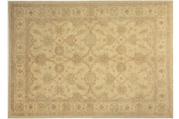 Afghan Chobi Ziegler 238x172 Handgeknüpft Teppich 170x240 Beige Orientalisch Kurzflor