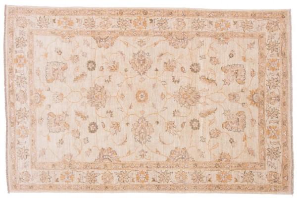 Afghan Chobi Ziegler 180x118 Handgeknüpft Teppich 120x180 Beige Orientalisch Kurzflor