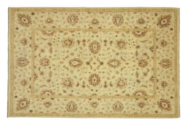 Afghan Chobi Ziegler 232x168 Handgeknüpft Teppich 170x230 Beige Floral Kurzflor Orient
