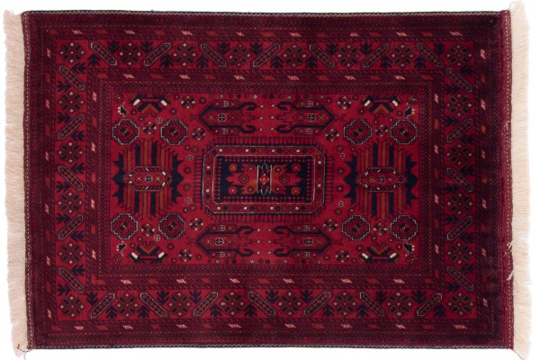 Afghan Belgique Khal Mohammadi 142x100 Handgeknüpft Teppich 100x140 Braun Geometrisch