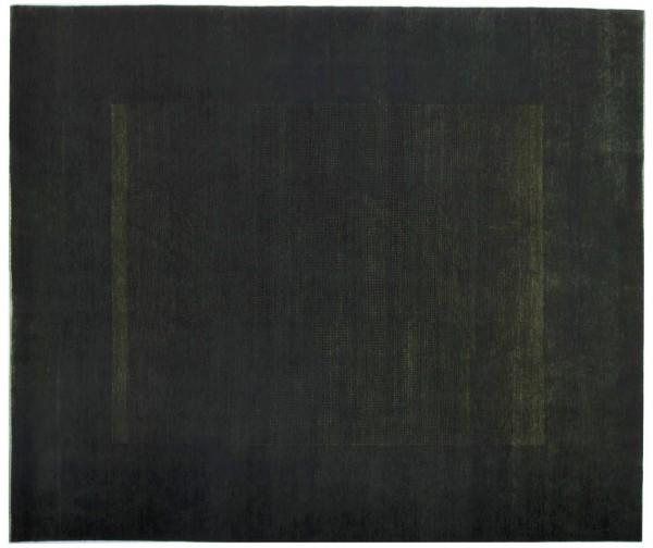 Loribaft 292x246 Handgeknüpft Teppich 250x290 Grün Geometrisch Muster Kurzflor Orient
